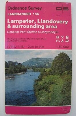 Ordnance Survey Map Landranger Series 146 Lampeter & Llandovery Area