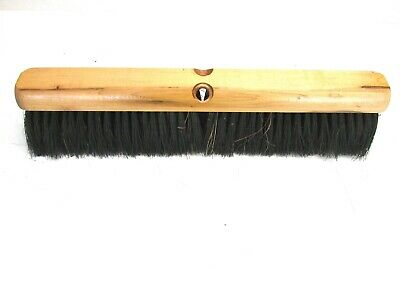 "Nos! Magnolia 18"" Floor Brush Brown Poly & Black Plastic 3"" Bristles"