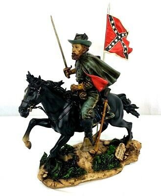 Civil War Confederate Cavalry Officer Commemorative Statue