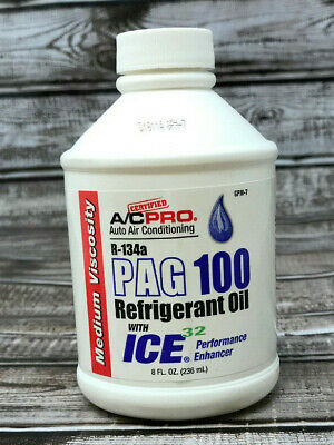 A/C Pro R-134a PAG 100 Refrigerant Oil With ICE 32 8 Fl. Oz. New Free Shipping