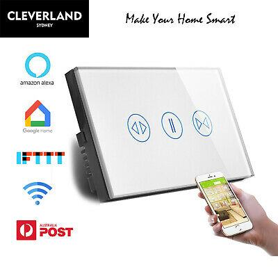 NEW AU Wifi Curtain Switch Panel Smart home Switch Control For Google Home Alexa