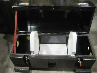 """Black Metal Freight Shipping Crate Storage Case Equipment Box Safety 48X24X26"""""""