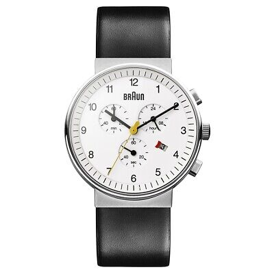 NEW RRP £185 Braun BN0035WHBKG Mens Chronograph Black White Watch