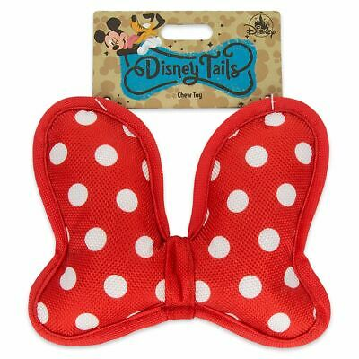 Disney Parks Tails Minnie Mouse Bow Pet Chew Toy Red Polka-Dot Pet Dog Cat NWT