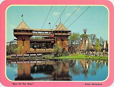 "postcard BIG 5.25x6.75 ""Best of the West"" Six Flags Great Adventure Jackson, NJ"