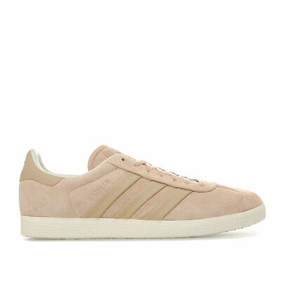 Mens adidas Originals Gazelle Stitch And Turn Trainers In St Pale Nude / Off