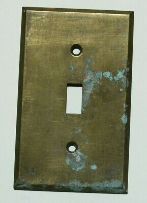 Antique Brass Single  Wall Light Switch Plate Cover C.E.M.
