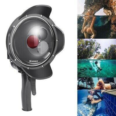 SHOOT Diving Dome Port Waterproof Case+Red Filter&Magnifier For GoPro Hero 5 6 7