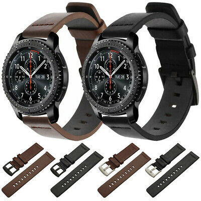 For Samsung Galaxy Watch 46mm Gear S3 Genuine Leather Band Quick Pin Strap 22mm
