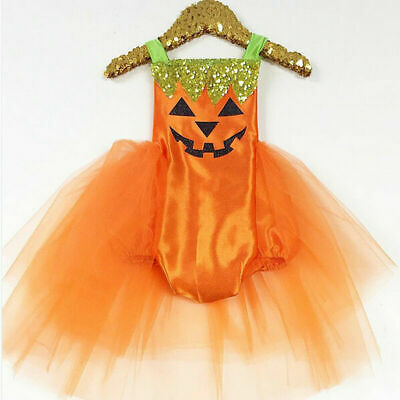 Newborn Baby Girls Halloween Costume Romper Tutu Dress Party Clothes Outfits New