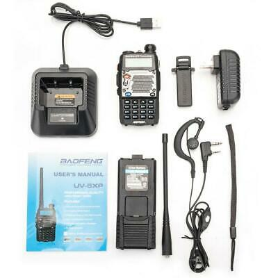 Baofeng UV-5XP 8W/5W/1W VHF/UHF 2-Way Radio with Headsets Walkie Talkie US