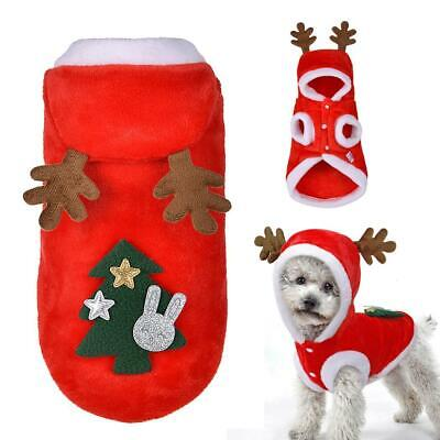 Dog Christmas Clothes Costume Winter Dog Cat Coat For Small Dogs Cats  D5