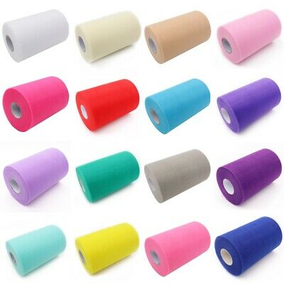 "TUTU TULLE ROLL 6"" Wide x 25/100yrds Craft Fabric Soft 100% Nylon Netting New"
