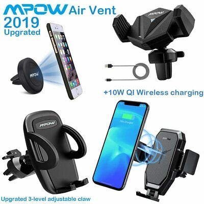 Mpow Car Mount Phone Holder Magnetic Air Vent Cradle Grip Stand For iPhone X 8 7