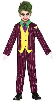 Boys Girls Comic Book Villain Halloween Film Fancy Dress Costume Outfit 5-12 yrs