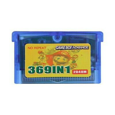 369 in 1 Video Game Cartridge Card For GameBoy Advance NDS GBA SP NDS NDSL J0X8D