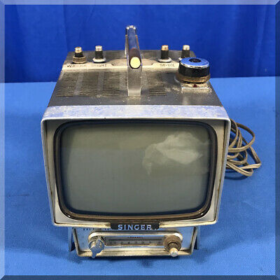 Vintage 1965 Singer Television Company Black & White Set Model Tv 6U Japan Made