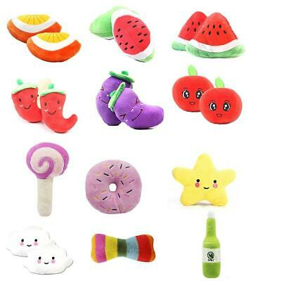 Pet Dog Cat Toy Funny Puppy Chew Squeaker Squeaky Plush Fruit Play Sound Toys D9