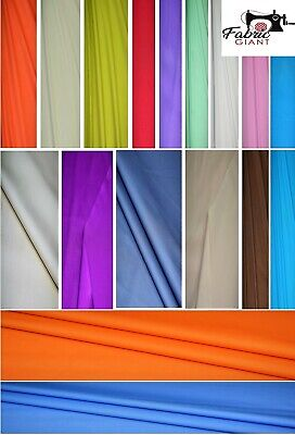 Plain 100%Cotton Solid,Dressmaking Craft Fabric Material,24 Colours,High Quality