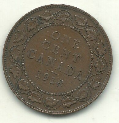 A Fine Condition 1918 Canada Large One Cent-Jun788