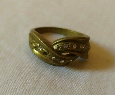 Ancient Ring Roman Bronze Artifact Very Old With Stuning Stones Extremely Rare