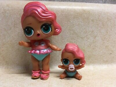 LOL Surprise Doll Big Sis TREASURE & Lil Sister Treasure Preowned