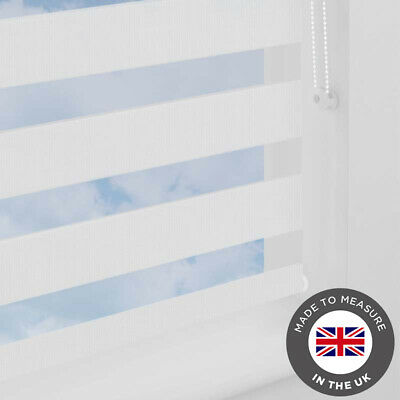 White Day and Night Vision Zebra Blind - Made to Measure Blinds -UK - Many Sizes