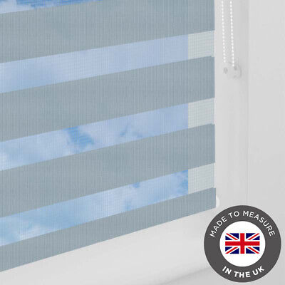 Grey Day and Night Vision Zebra Blind - Made to Measure Blinds - UK - Many Sizes