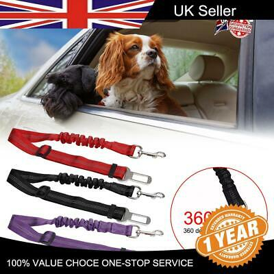 Pet Seat Belt Vehicle Anti Shock Bungee Lead Travel Safety Harness Dog Car Seat