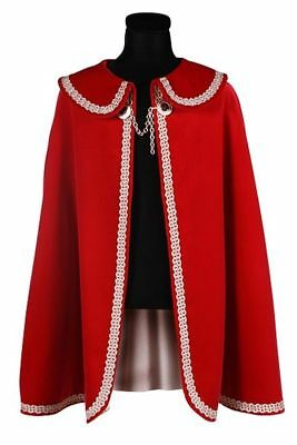Classy Prince Shawl Coat Mens Red Edging Velvet Inner Lining Triumvirate Garde