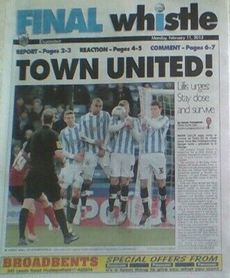 HUDDERSFIELD TOWN v CARDIFF CITY 2012-13 FINAL WHISTLE HUDDERSFIELD EXAMINER