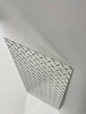 "Aluminum Tread   plate 12"" x 24""  .063 14 Gauge Chrome polish  (FREE SHIPPING)"