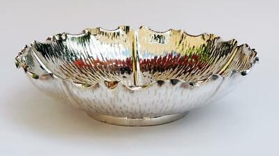 HUKIN & HEATH SILVER PLATED BOWL c1880 WATER LILY DESIGN Aesthetic Movement
