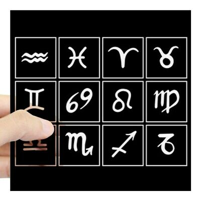CafePress Zodiac Signs Square Sticker 3 X 3 Square Sticker  (140895655)