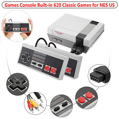 Vintage Retro Game Console Classic 620 Built-in Kids Games 2 Gamepad for NES US