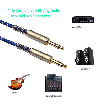 6.35MM Stereo Audio Cable Male to Male AUX Cable for Electric Guitar Mixer