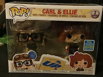 FUNKO Pop Vinyl UP! CARL AND ELLIE SDCC 2019 Exclusive Figure 2 pack Unopened
