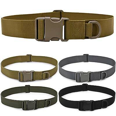 Mens Military Tactical Waist Belt Webbing Buckle Work Waistband Nylon Strap Army