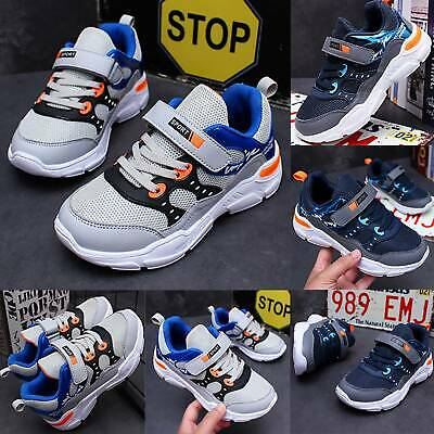 Boys Kids Child Sport Running Shoes Breathable Mesh School Trainer Sneakers Size