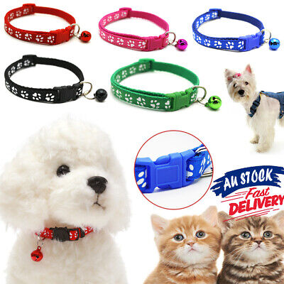 Dog Pet Puppy Kitten Adjustable Harness Collar Cat Neck Strap with Bell