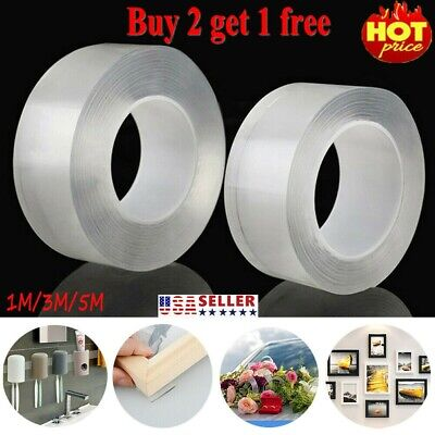 Magic Double-sided Nano Tape Traceless Washable Adhesive Tape Nano Invisible Gel