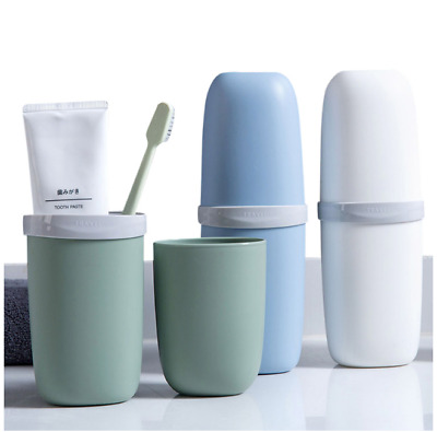 Portable Travel Toothpaste Toothbrush Holder Cap Case Storage Cup Outdoor Holder