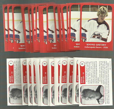 Lot Of 25 Wayne Gretzky 1978 Indianapolis Racers Pre Rookie RC #1 MINT!!!