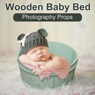 Newborn Boys Girls Photography Wooden Bed Props Little Baby Photo shooting Props