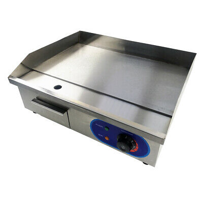 Electric Griddle Commercial Flat Hotplate BBQ Grill Stainless Steel Countertop