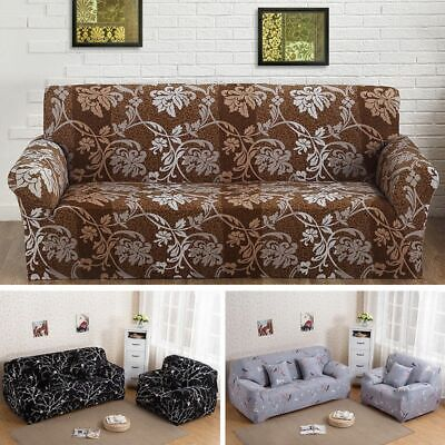 1/2/3/4 Sofa Covers Couch Slipcover Stretch Elastic Fabric Seater Protector Flor