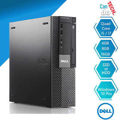 DELL OFFICE PC DESKTOP COMPUTER CORE i5 i7 16GB RAM 2TB HDD SSD WINDOWS 10 WiFi