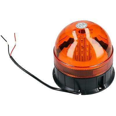 Professional LED Amber Warning Beacon 12v & 24v IP66 Flashing Light Orange