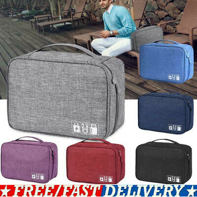 1pcs Travel Storage Bag USB Charger Data Cable Electronics Organizer Waterproof