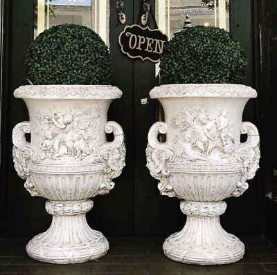 New 77cm White Decorative French Style Garden Urn Pot Planter